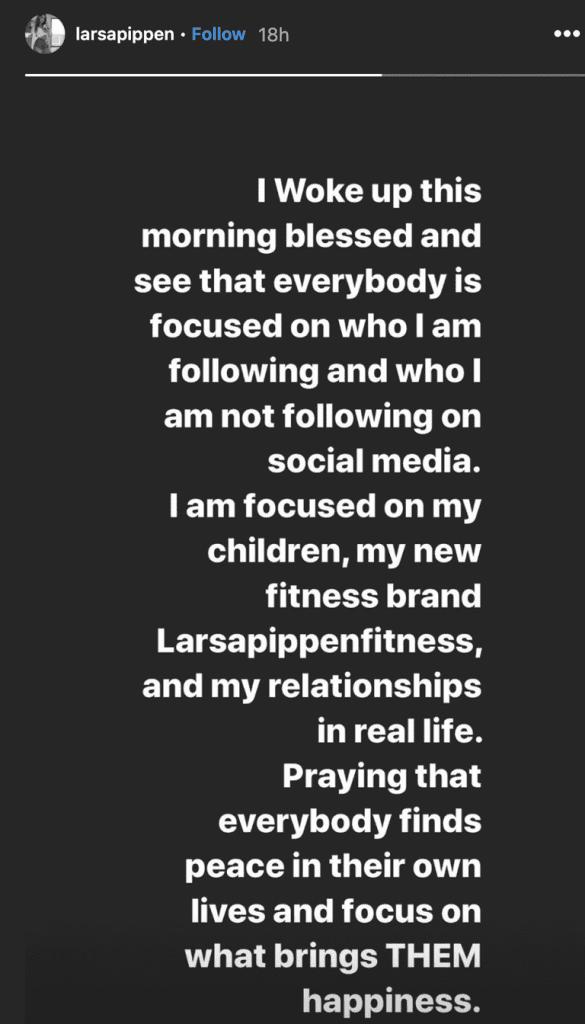 Larsa Pippen responds to the Kardashians