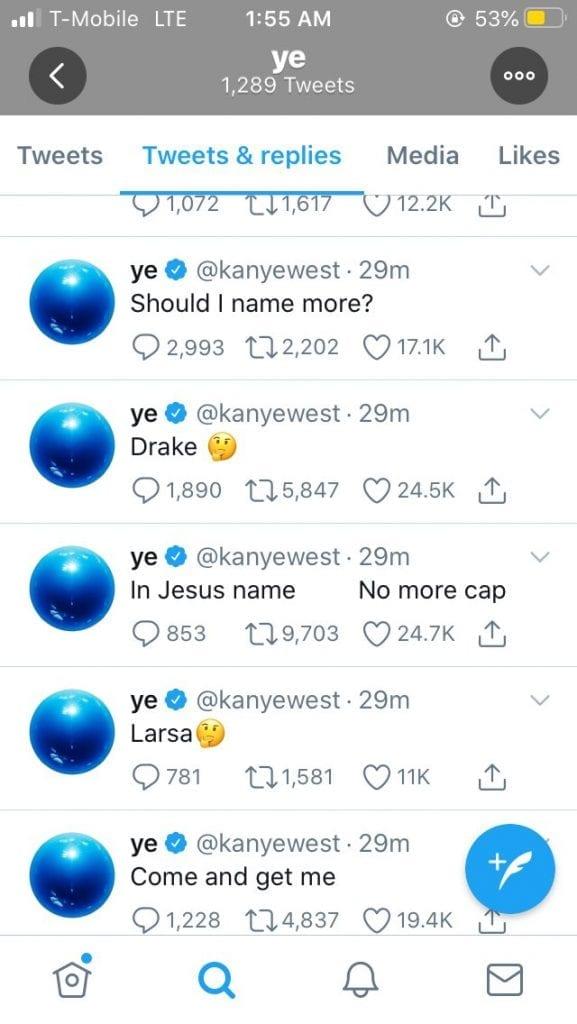 Larsa kanye tweet