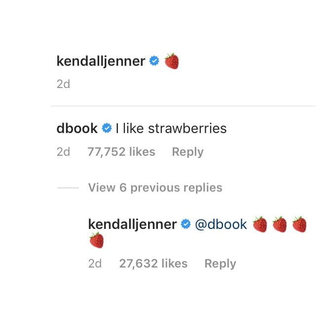 Devin Booker Kendall Jenner Comment Section