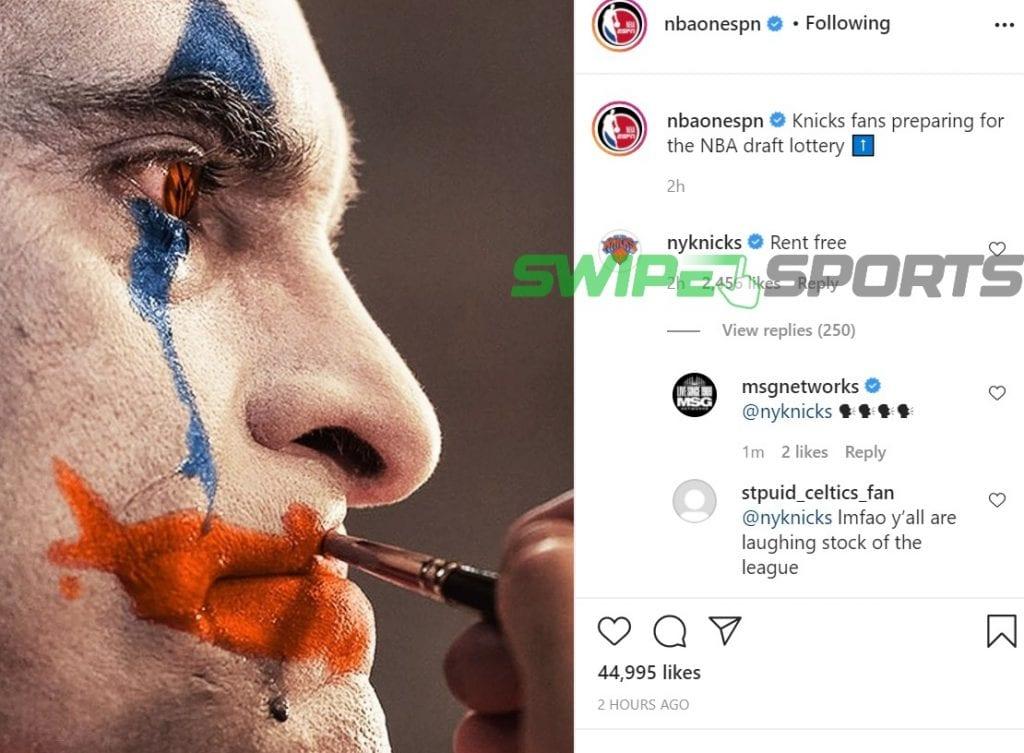Knicks responds to ESPN 1