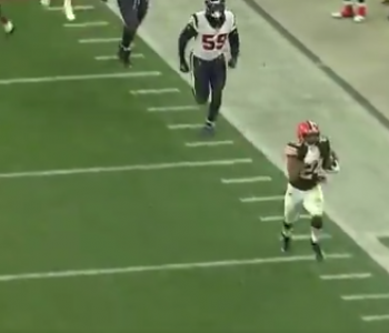 Watch Nick Chubb screw Browns bettors on final play of Texans game
