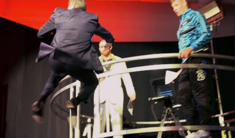 Vince McMahon Rob Gronkowski 10 foot jump