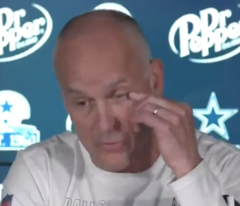 Cowboys DC Mike Nolan somehow got hot sauce in his eye during press conference