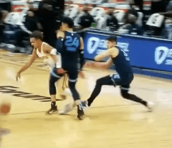 Grayson Allen already back to his old tripping ways (Video)