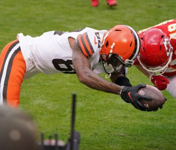 Rashard Higgins broke Browns' rule about diving for pylon on critical fumble